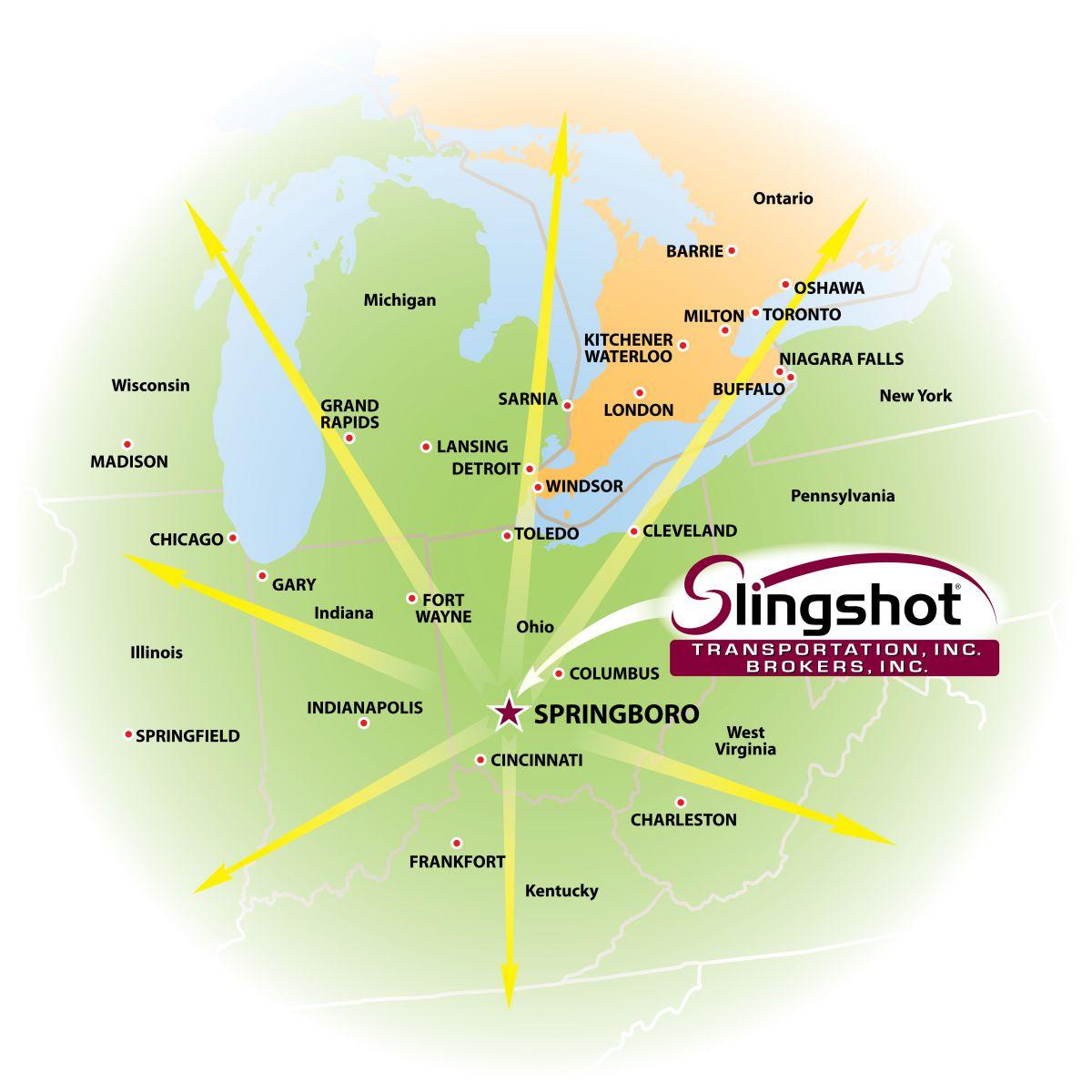 Springboro Ohio Map.Springboro Ohio Freight Leader Office Title